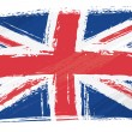 United Kingdom national flag created in grunge sty...