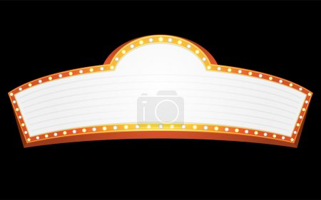 Illustration for Big gold banner for cinema, theater or circus - Royalty Free Image
