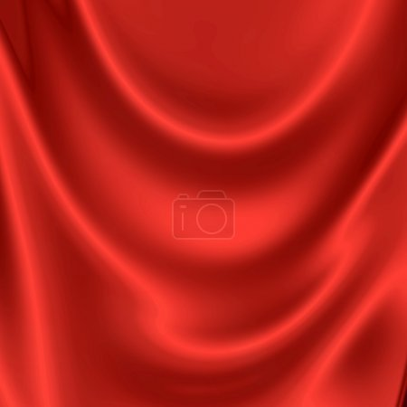 Photo pour Illustration de texture draperie rouge - image libre de droit