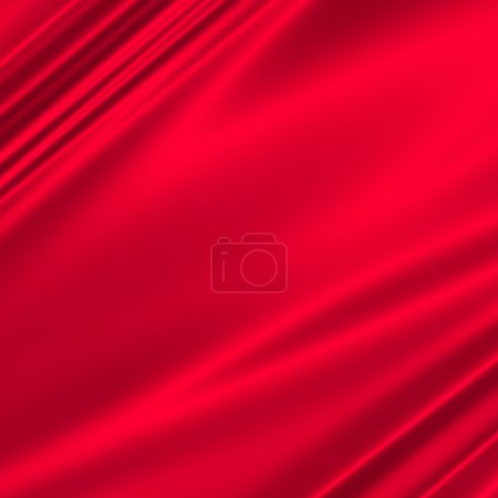 Photo for Red drapery abstract background illustration - Royalty Free Image