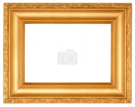 Photo for Golden frame with empty space for your picture - Royalty Free Image