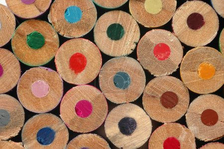 Photo pour Crayons de couleur macro - image libre de droit