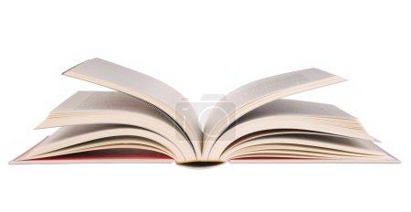 Photo pour Livre ouvert isolé sur fond blanc - image libre de droit