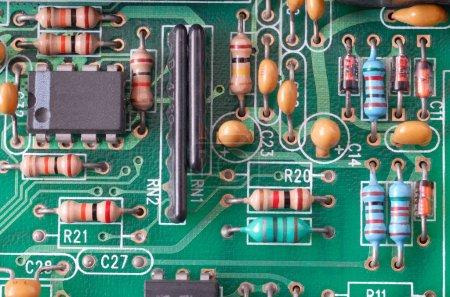 Photo for Printed circuit board macro - Royalty Free Image