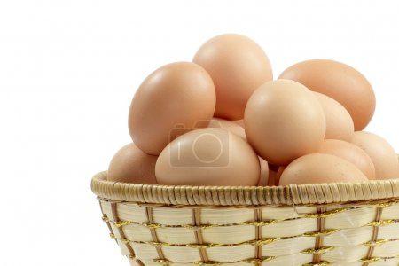 Photo for Eggs isolated on a white background. - Royalty Free Image