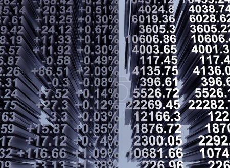 Photo pour Partager les prix indiqués. cours en temps réel à la bourse. image de haute résolution. - image libre de droit