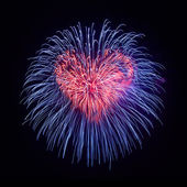 Heart from fireworks