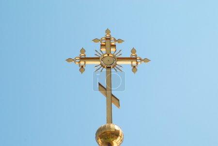 Golden orthodox cross
