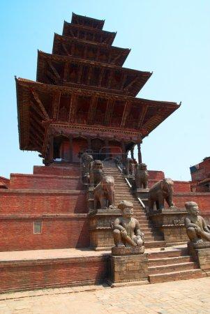 Photo for Temple of old buddhistic city. Baktaphur, Nepal - Royalty Free Image