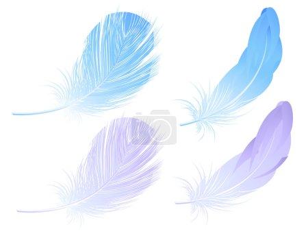 Illustration pour Set de plumes, illustration vectorielle, fichiers EPS et AI inclus - image libre de droit