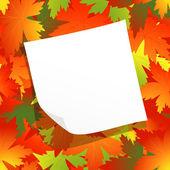 Page on autumnal leaf