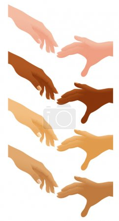Helping hands different nations