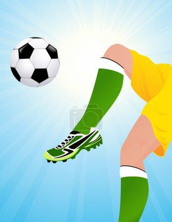 Football player jumping