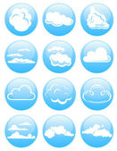 Cloud icons vector illustration