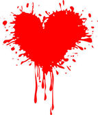 Stained red heart vector image for Valentine's day