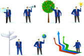 Collection of abstract business figures logos and icons