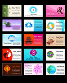 Collection of Yoga business cards