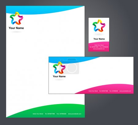 Letterhead design with logo - 5