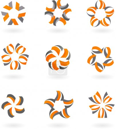 Abstract icons and logos - 5