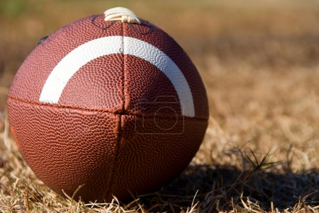 Photo for An American football ready for sports action. - Royalty Free Image