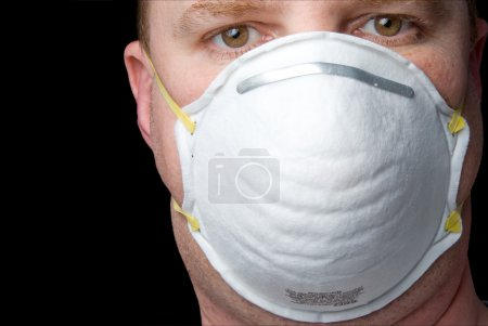 Photo for An inexpensive industrial respirator personal protective equipment. - Royalty Free Image