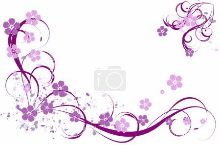 Illustration for Lilac pattern - Royalty Free Image