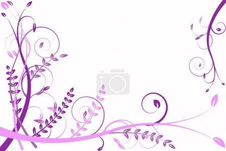 Lilac flower abstraction, pattern elegance curves...
