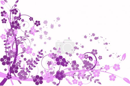 Illustration for Lilac abstraction, pattern elegance curves - Royalty Free Image