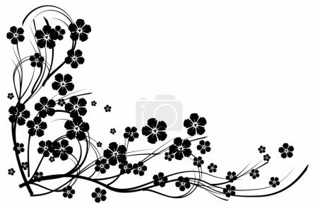 Illustration for Black and white abstraction decorative pattern - Royalty Free Image