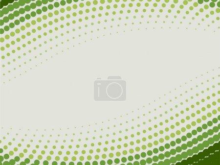 Halftone green vector background