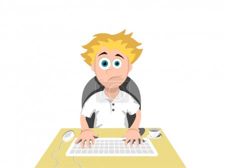 Illustration for Computer User - Royalty Free Image