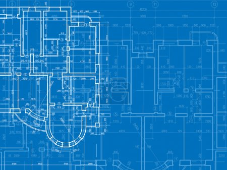 Photo for Building background. Plan of the house - Royalty Free Image