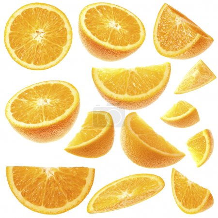 Orange slices collection