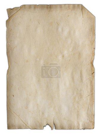 Photo pour Ancienne texture de papier isolé - image libre de droit