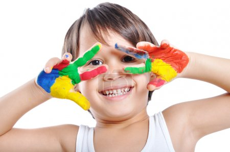 Photo for Messy hands, childhood - Royalty Free Image