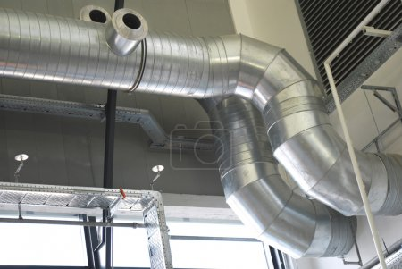 Ventilation pipes of an aircondition...