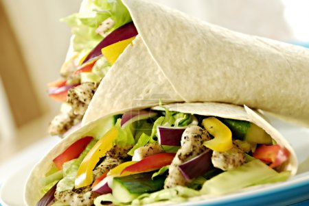 Chicken salad wraps...