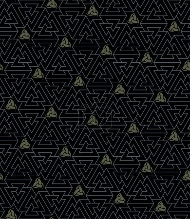 Odin`s seamless texture (Knot of the Slain and Tri...