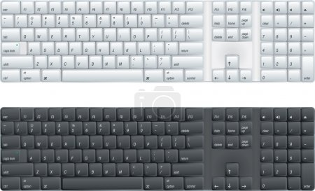 Computer keyboard with option of black or white...