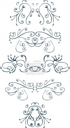 Elegant pieces curves decor element tatt
