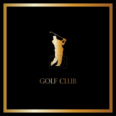 Vector golf club card, luxury