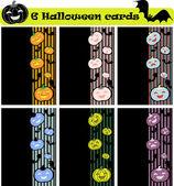 6 vector halloween cards