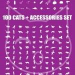 Постер, плакат: Great 100 cats and accessories