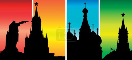 Vector Russia Moscow sights Kremlin