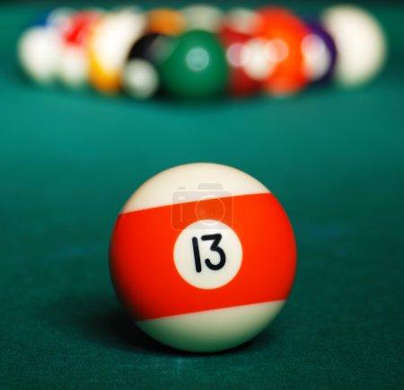 Pool game balls.