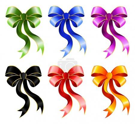 Varicoloured festive bow