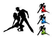 Pair of lovers tangos dance