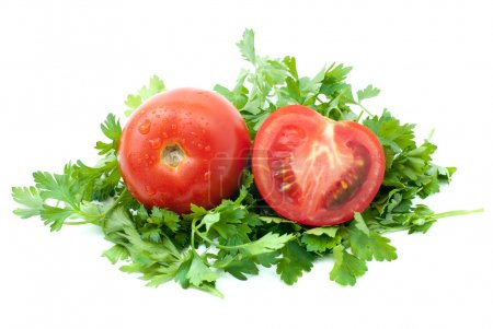 Tomatoes and half with some parsley
