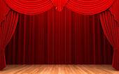 """Постер, картина, фотообои """"Red velvet curtain opening scene"""""""