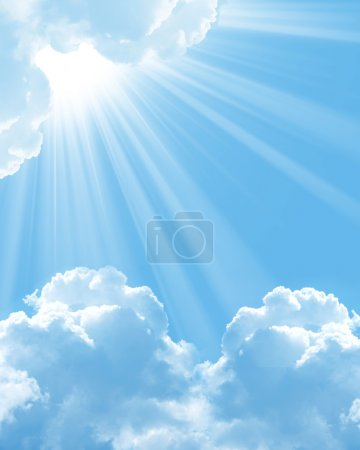 Photo for Beautiful white clouds - Royalty Free Image